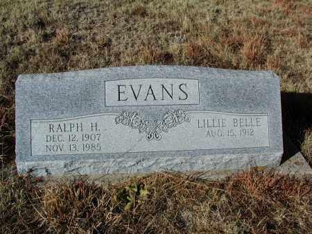 EVANS, RALPH H. - El Paso County, Colorado | RALPH H. EVANS - Colorado Gravestone Photos