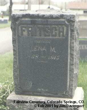 FRITSCH, LENA M. - El Paso County, Colorado | LENA M. FRITSCH - Colorado Gravestone Photos