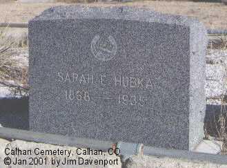 HUBKA, SARAH E. - El Paso County, Colorado | SARAH E. HUBKA - Colorado Gravestone Photos
