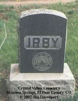 IRBY, ELTON T. - El Paso County, Colorado | ELTON T. IRBY - Colorado Gravestone Photos