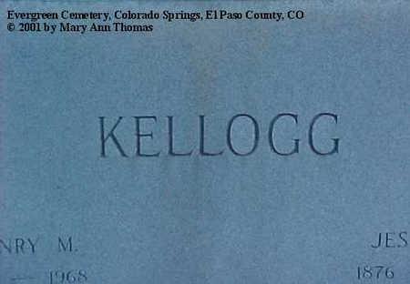 KELLOGG, HENRY MILROY - El Paso County, Colorado | HENRY MILROY KELLOGG - Colorado Gravestone Photos