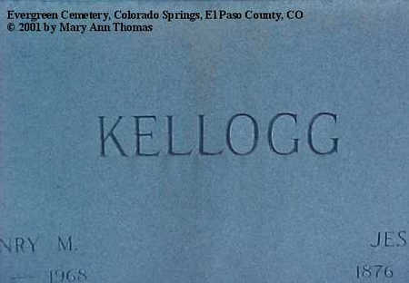 KELLOGG, JESSIE Q. - El Paso County, Colorado | JESSIE Q. KELLOGG - Colorado Gravestone Photos