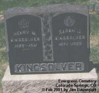 KINGSOLVER, SARAH J. - El Paso County, Colorado | SARAH J. KINGSOLVER - Colorado Gravestone Photos