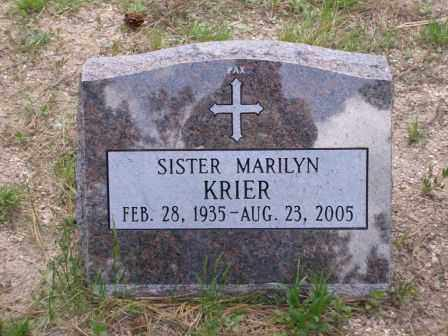 KRIER, SR. MARILYN - El Paso County, Colorado | SR. MARILYN KRIER - Colorado Gravestone Photos