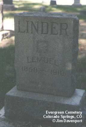 LINDER, LEMUEL - El Paso County, Colorado | LEMUEL LINDER - Colorado Gravestone Photos