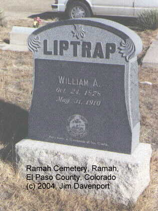 LIPTRAP, WILLIAM A. - El Paso County, Colorado | WILLIAM A. LIPTRAP - Colorado Gravestone Photos
