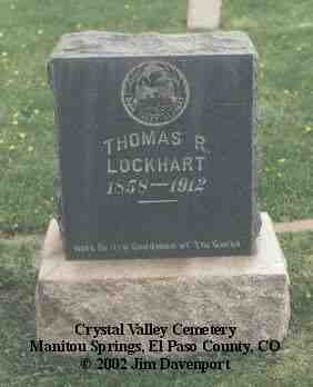 LOCKHART, THOMAS R. - El Paso County, Colorado | THOMAS R. LOCKHART - Colorado Gravestone Photos