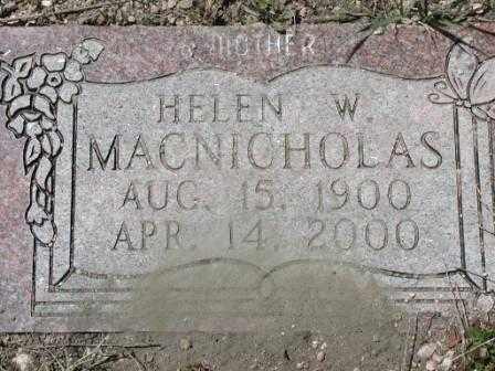 MACNICHOLAS, HELEN - El Paso County, Colorado | HELEN MACNICHOLAS - Colorado Gravestone Photos