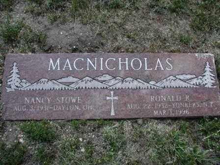 MACNICHOLAS, NANCY - El Paso County, Colorado | NANCY MACNICHOLAS - Colorado Gravestone Photos