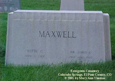 MAXWELL, MATTIE C. - El Paso County, Colorado | MATTIE C. MAXWELL - Colorado Gravestone Photos