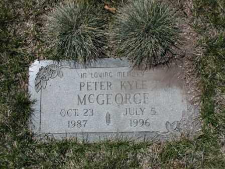MCGEORGE, PETER - El Paso County, Colorado | PETER MCGEORGE - Colorado Gravestone Photos