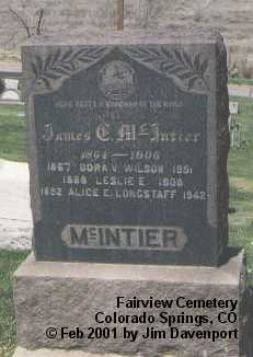 MCINTIER, JAMES G. - El Paso County, Colorado | JAMES G. MCINTIER - Colorado Gravestone Photos