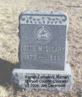 MCQUEARY, LOTTIE - El Paso County, Colorado | LOTTIE MCQUEARY - Colorado Gravestone Photos