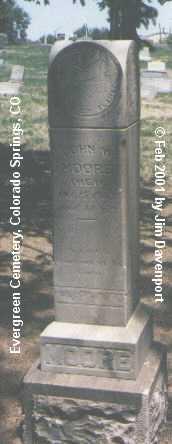 MOORE, JOHN W. - El Paso County, Colorado | JOHN W. MOORE - Colorado Gravestone Photos