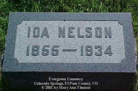 ROUNSAVELL NELSON, IDA - El Paso County, Colorado | IDA ROUNSAVELL NELSON - Colorado Gravestone Photos