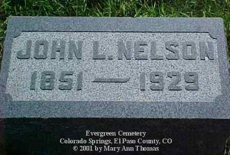 NELSON, JOHN L. - El Paso County, Colorado   JOHN L. NELSON - Colorado Gravestone Photos