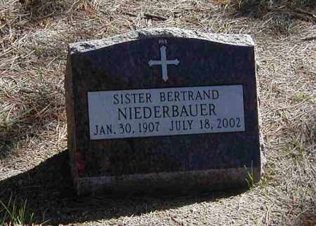 NIEDERBAUER, SR. BERTRAND - El Paso County, Colorado | SR. BERTRAND NIEDERBAUER - Colorado Gravestone Photos