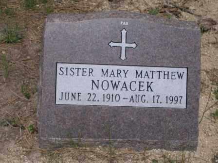 NOWACEK, SR. MARY MATTHEW - El Paso County, Colorado | SR. MARY MATTHEW NOWACEK - Colorado Gravestone Photos