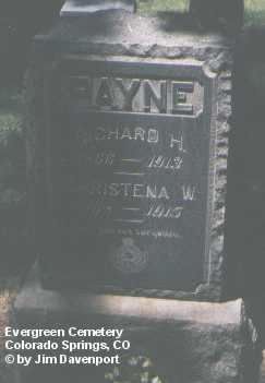 PAYNE, CHRISTENA W. - El Paso County, Colorado | CHRISTENA W. PAYNE - Colorado Gravestone Photos