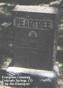 PEARTREE, GEORGE A. - El Paso County, Colorado | GEORGE A. PEARTREE - Colorado Gravestone Photos