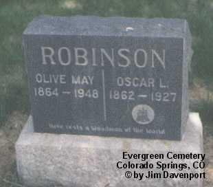 ROBINSON, OLIVE MAY - El Paso County, Colorado | OLIVE MAY ROBINSON - Colorado Gravestone Photos