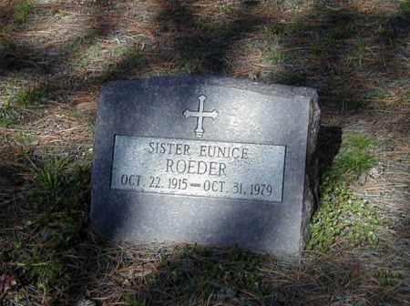 ROEDER, SR. EUNICE - El Paso County, Colorado   SR. EUNICE ROEDER - Colorado Gravestone Photos