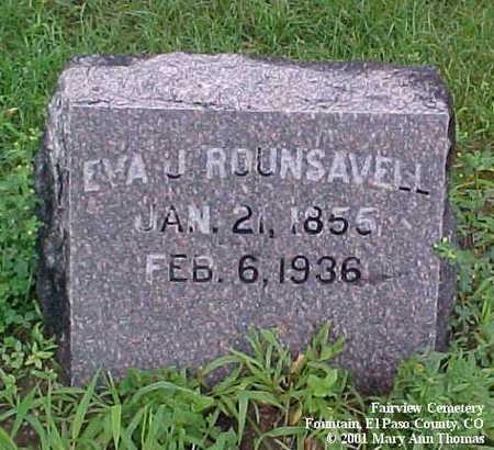 ROUNSAVELL, EVA J. - El Paso County, Colorado | EVA J. ROUNSAVELL - Colorado Gravestone Photos