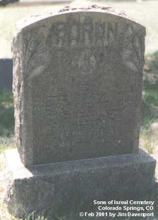 SORUN, JACOB - El Paso County, Colorado | JACOB SORUN - Colorado Gravestone Photos