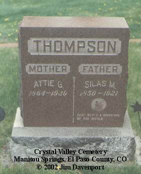 THOMPSON, SILAS M. - El Paso County, Colorado | SILAS M. THOMPSON - Colorado Gravestone Photos