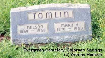 TOMLIN, J. NELSON - El Paso County, Colorado | J. NELSON TOMLIN - Colorado Gravestone Photos