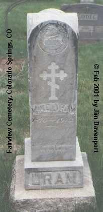 URAM, MIKE - El Paso County, Colorado   MIKE URAM - Colorado Gravestone Photos