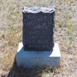 REED WADE, MARY ELIZABETH - El Paso County, Colorado | MARY ELIZABETH REED WADE - Colorado Gravestone Photos