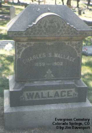 WALLACE, CHARLES S. - El Paso County, Colorado | CHARLES S. WALLACE - Colorado Gravestone Photos