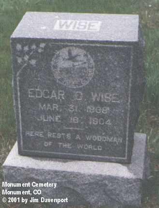 WISE, EDGAR - El Paso County, Colorado | EDGAR WISE - Colorado Gravestone Photos