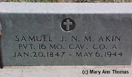 AKIN, SAMUEL J.N.M. - Fremont County, Colorado | SAMUEL J.N.M. AKIN - Colorado Gravestone Photos