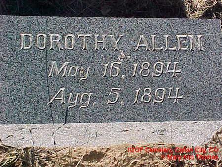 ALLEN, DOROTHY - Fremont County, Colorado | DOROTHY ALLEN - Colorado Gravestone Photos
