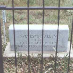 ALLEN, SYLVESTER - Fremont County, Colorado   SYLVESTER ALLEN - Colorado Gravestone Photos
