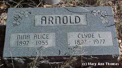 ARNOLD, CLYDE L. - Fremont County, Colorado | CLYDE L. ARNOLD - Colorado Gravestone Photos