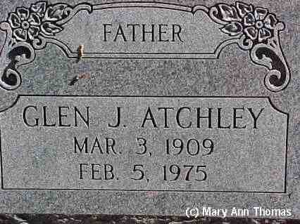 ATCHLEY, GLEN J. - Fremont County, Colorado | GLEN J. ATCHLEY - Colorado Gravestone Photos