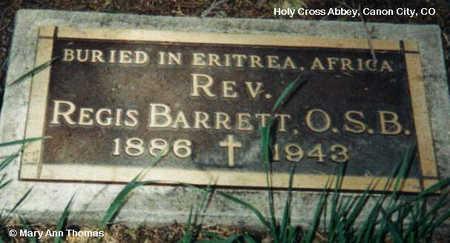 BARRETT, REGIS - Fremont County, Colorado | REGIS BARRETT - Colorado Gravestone Photos