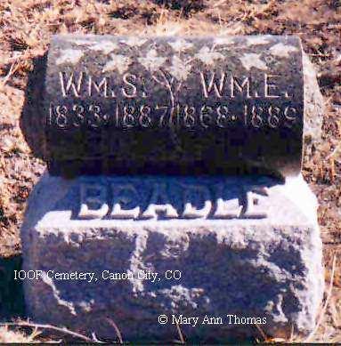 BEADLE, WM. E. - Fremont County, Colorado | WM. E. BEADLE - Colorado Gravestone Photos