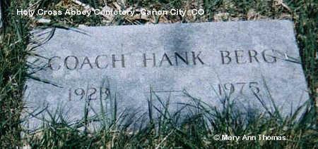 BERG, HANK - Fremont County, Colorado | HANK BERG - Colorado Gravestone Photos