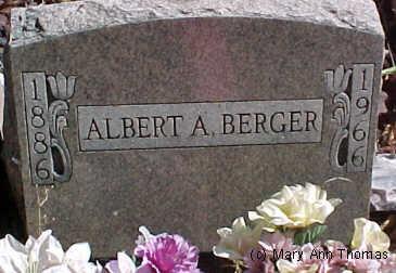 BERGER, ALBERT A. - Fremont County, Colorado | ALBERT A. BERGER - Colorado Gravestone Photos