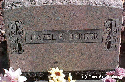 BERGER, HAZEL E. - Fremont County, Colorado | HAZEL E. BERGER - Colorado Gravestone Photos