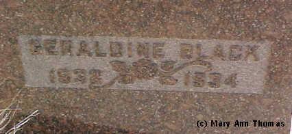 BLACK, GERALDINE - Fremont County, Colorado   GERALDINE BLACK - Colorado Gravestone Photos