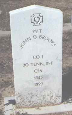 BROOKS, JOHN D. - Fremont County, Colorado | JOHN D. BROOKS - Colorado Gravestone Photos