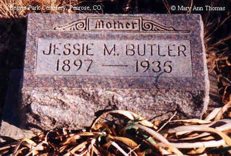 BUTLER, JESSIE M. - Fremont County, Colorado | JESSIE M. BUTLER - Colorado Gravestone Photos