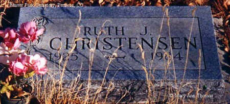 CHRISTENSEN, RUTH J. - Fremont County, Colorado   RUTH J. CHRISTENSEN - Colorado Gravestone Photos
