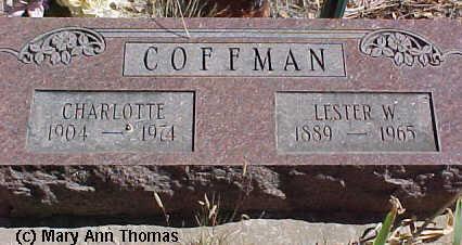 COFFMAN, LESTER W. - Fremont County, Colorado   LESTER W. COFFMAN - Colorado Gravestone Photos