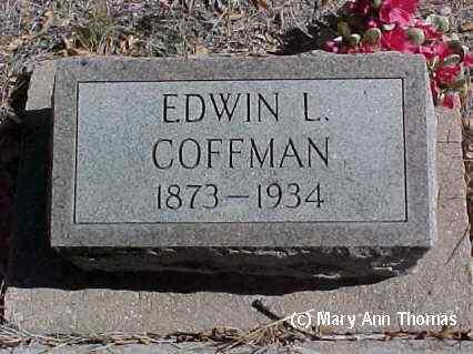 COFFMAN, EDWIN L. - Fremont County, Colorado | EDWIN L. COFFMAN - Colorado Gravestone Photos